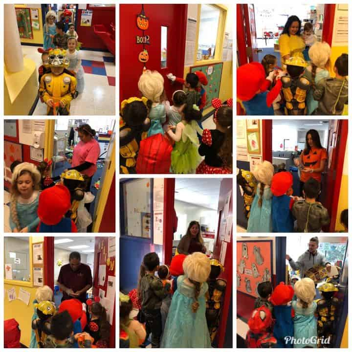 halloween collage images classroom trick-or-treating