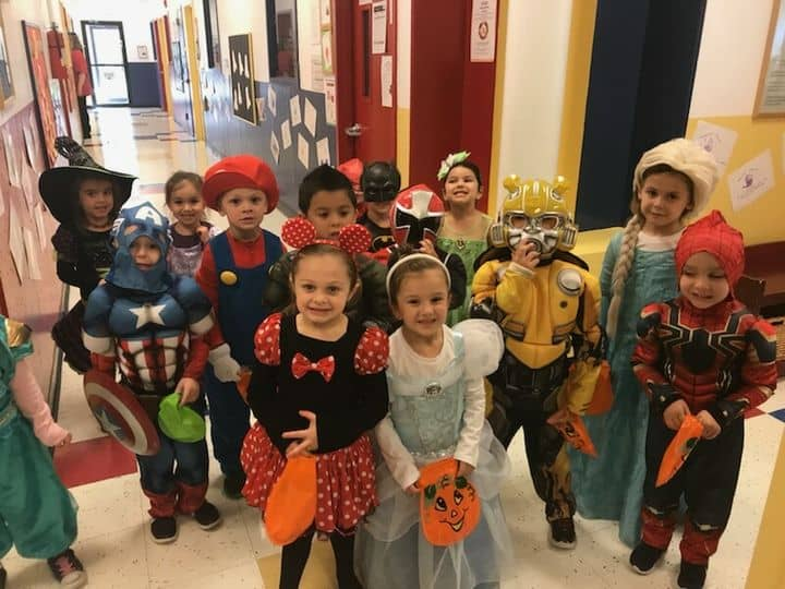 smithtown children halloween costume photo at tutor time